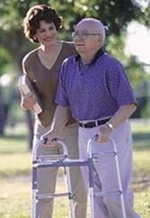 Employment Opportunities_caregiver and client_man with walker